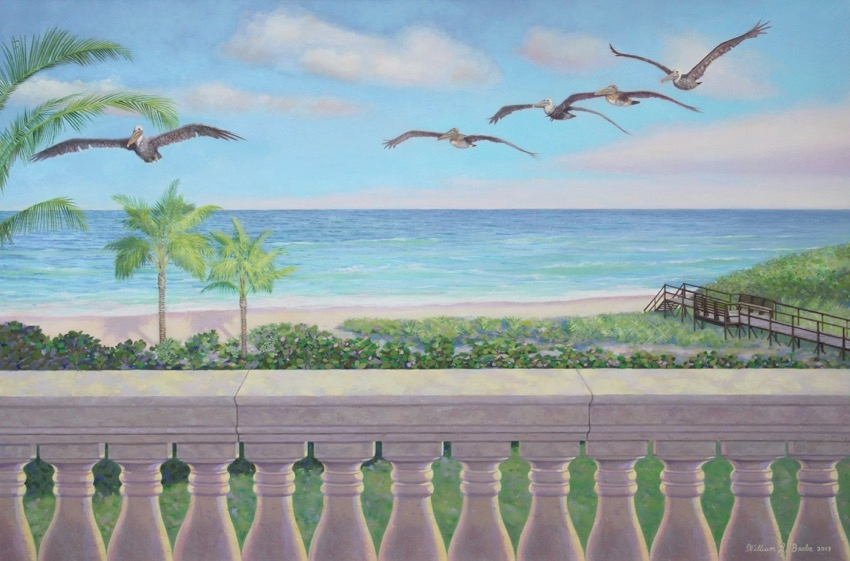 Pelicans in Paradise by William R. Beeb