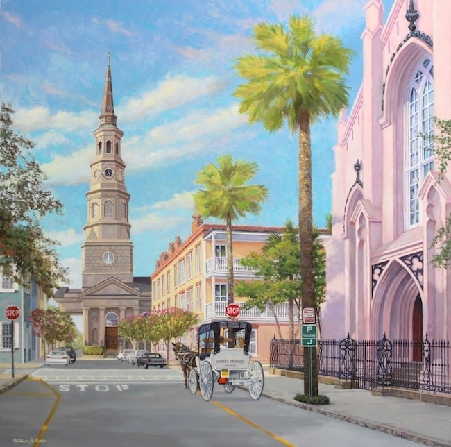 The Corner of Church and Queen, by William R. Beebe, 30 x 30, oil on canvas, $7200