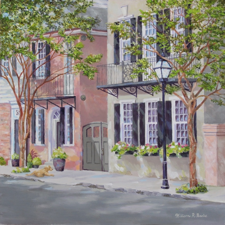 Waiting Under the Crepe Myrtle by artist William R. Beebe