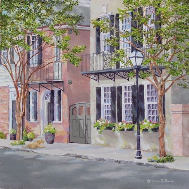 Waiting Under the Crepe Myrtle  by William R. Beebe, 12x12, Oil on board, $2200