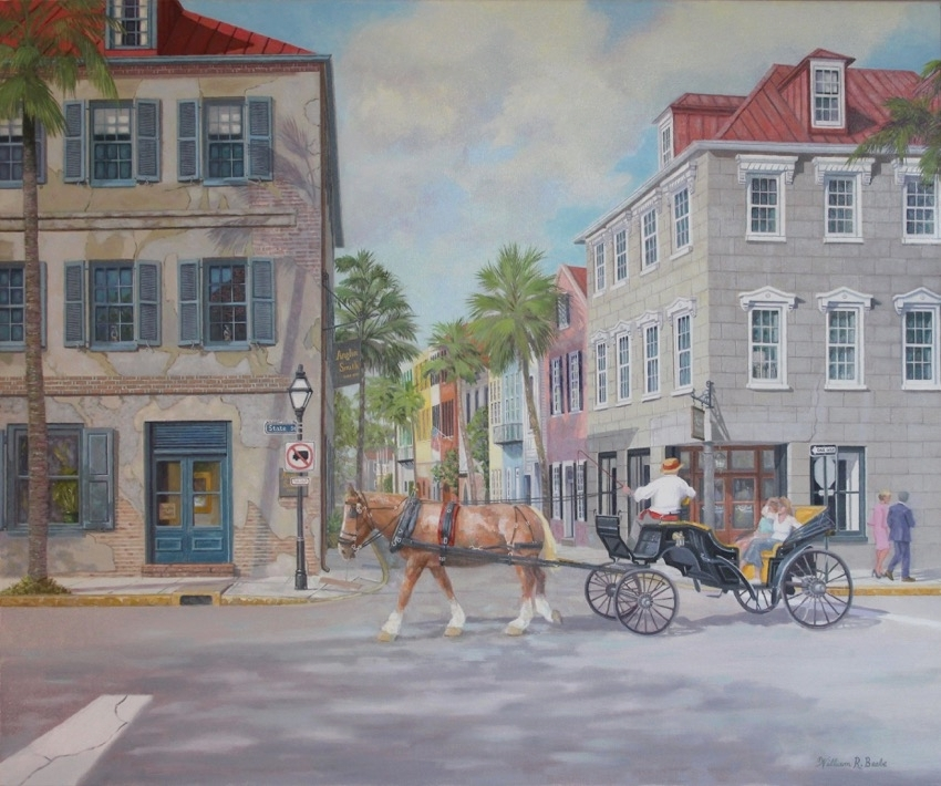 Touring the French Quarter in Charleston by artist William R. Beebe