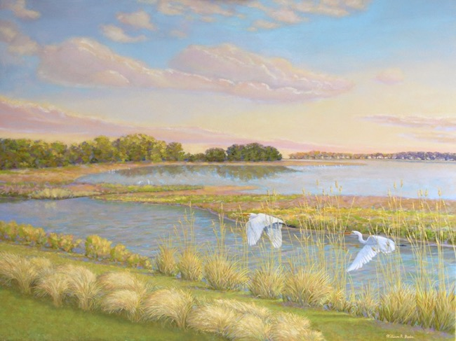 Tall Grasses on the Salt Marsh    by William R. Beebe, 30 x 40, oil on canvas, $6600