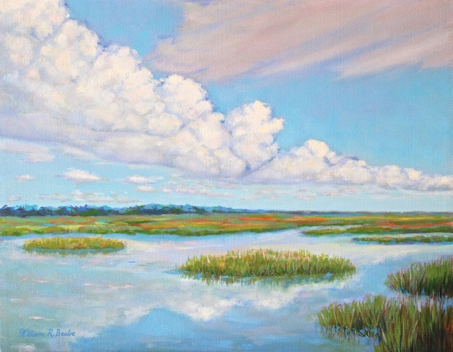 Lowcountry Reflections    by William R. Beebe, 11 x 14, Oil on canvas, $850