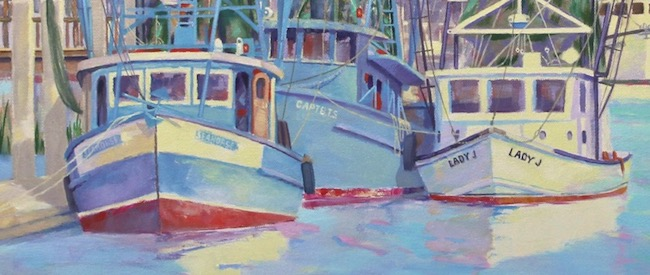 Shem Creek Waterfront   by William R. Beebe, boat detail