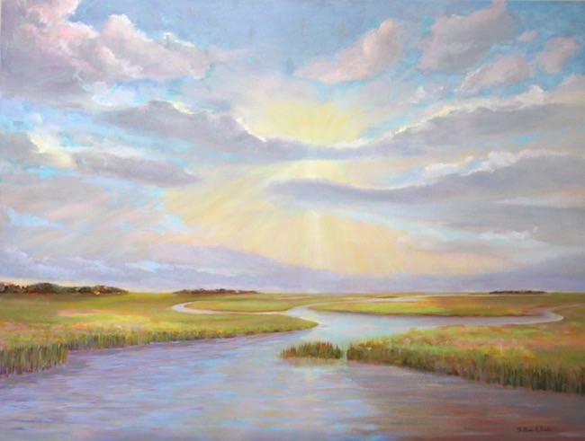 Lowcountry Evening Light    by William R. Beebe, 30 x 40, Oil on canvas, $5000