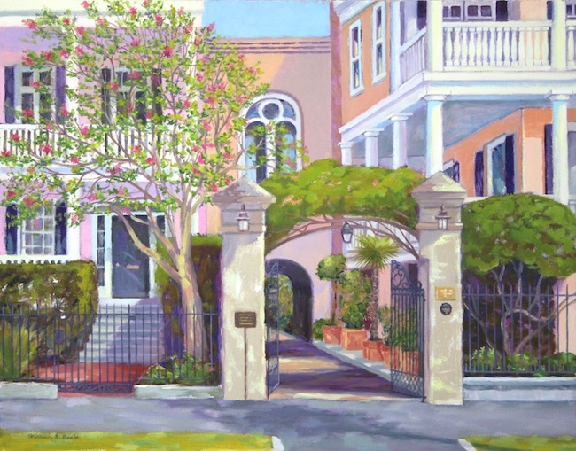 Beyond the Gate    by William R. Beebe, 14 x 18, Oil on canvas, $2800