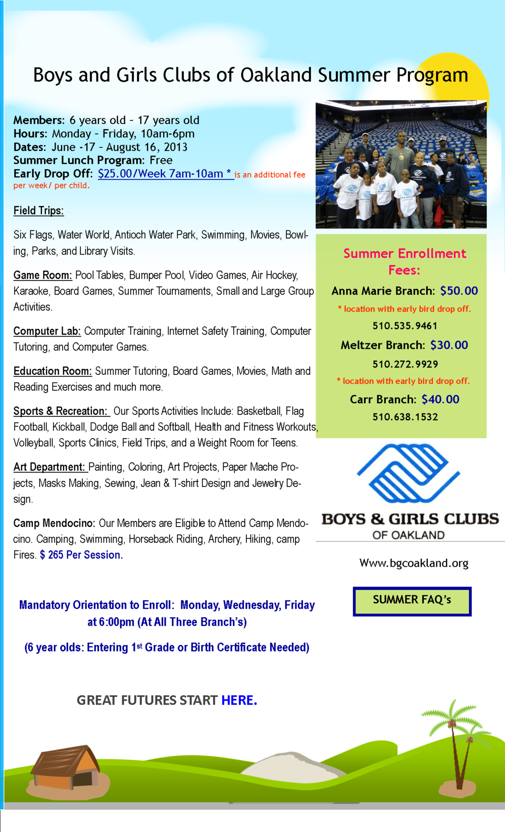 Summer Program Boys Girls Clubs Of Oakland