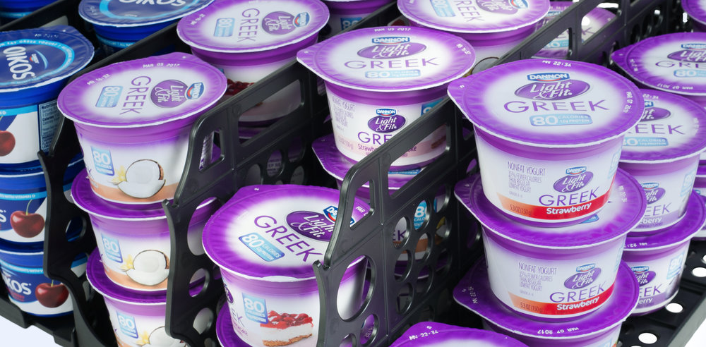 A SMOOTH NEW SOLUTION.  THE EZ-STOCK® YOGURT TRAY.