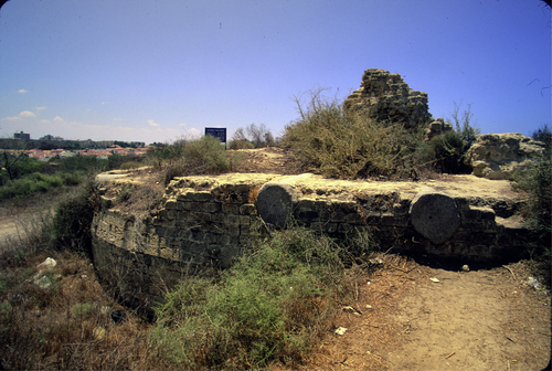 Remains of one of the medieval towers