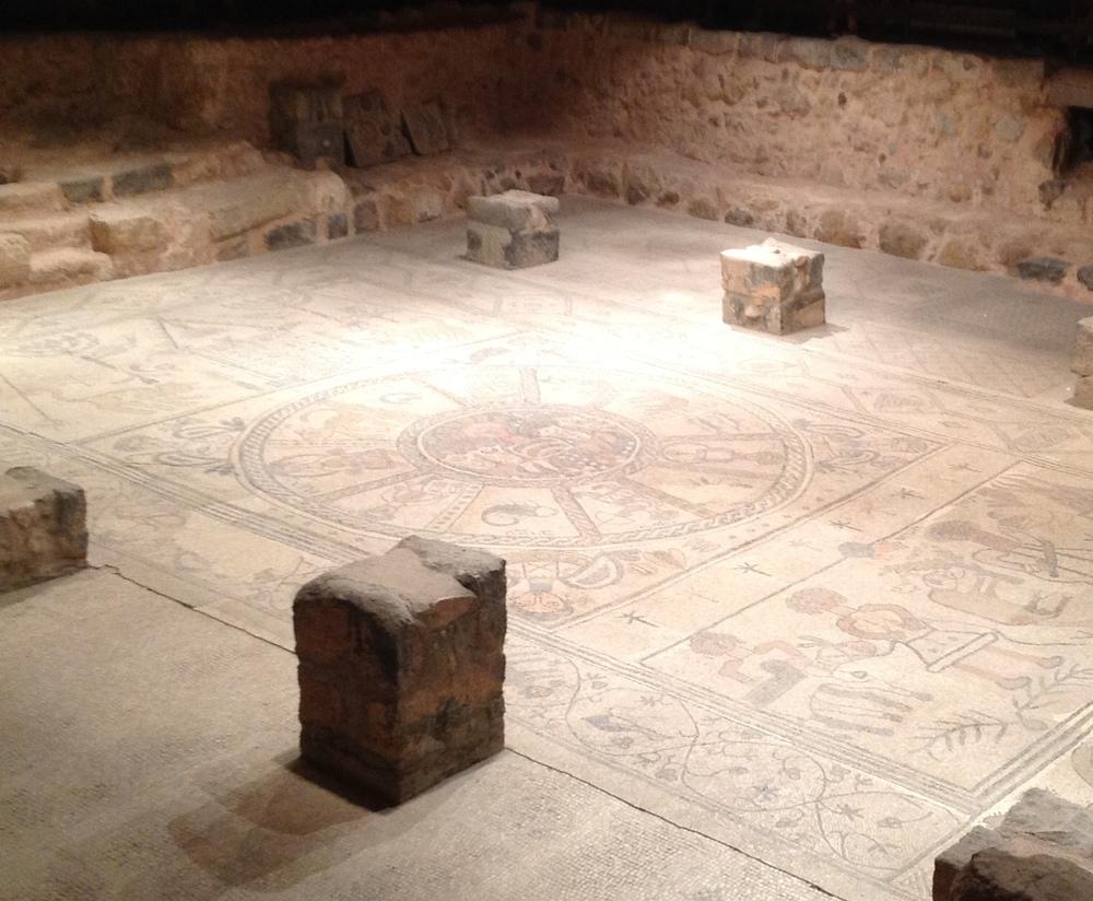 Mosaic in Beit Alfa (Alpha)