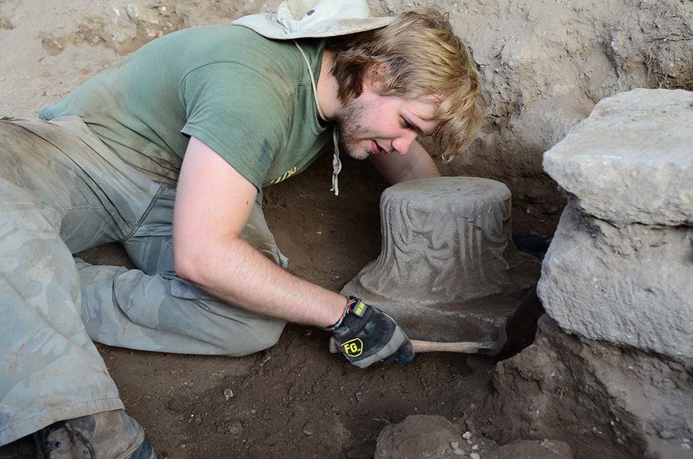 Excavating a fallen capital