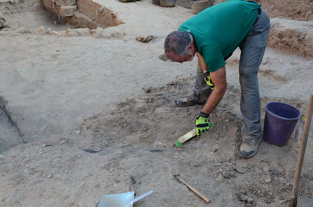 Gordy excavates a beam
