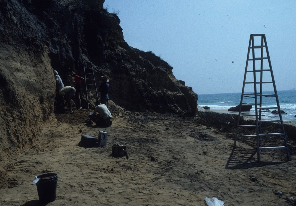 Excavating in 1989