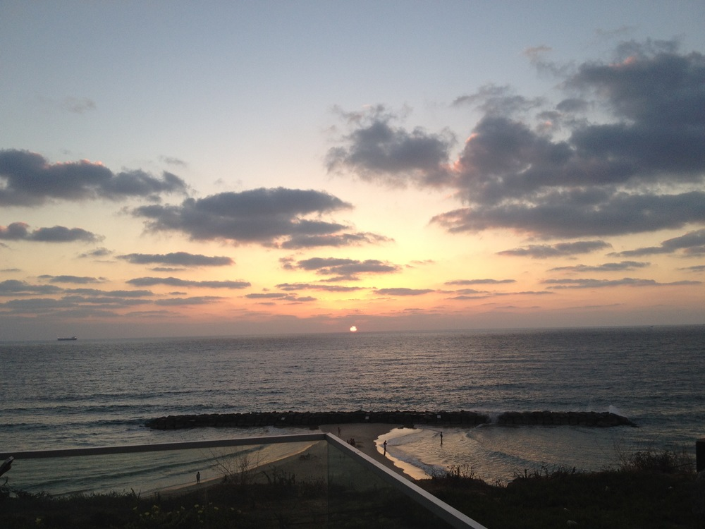 Sunset over the beaches of Ashkelon -- 2015