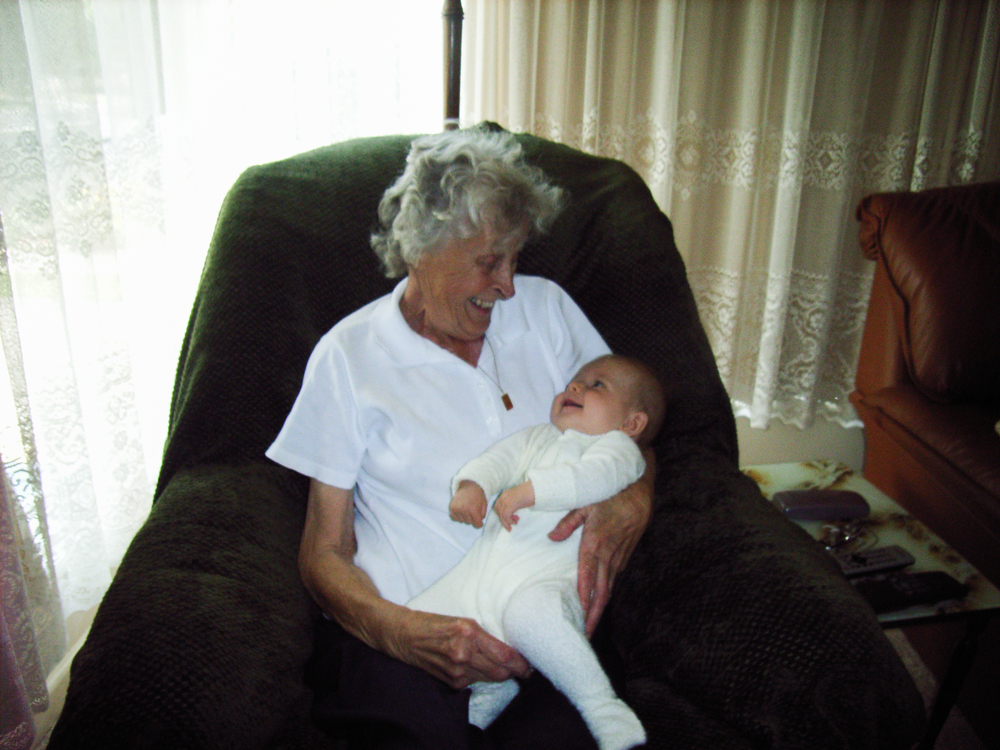 Jacob with Nan, two months before she died, Koo Wee Rup, 2009