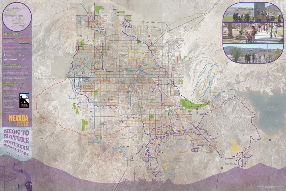Design Las Vegas Valley Trails Map GROUND HERE COLLABORATIVE