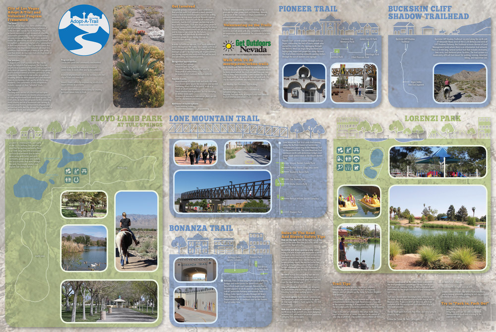 The back of the City of Las Vegas trails map. (click to enlarge)