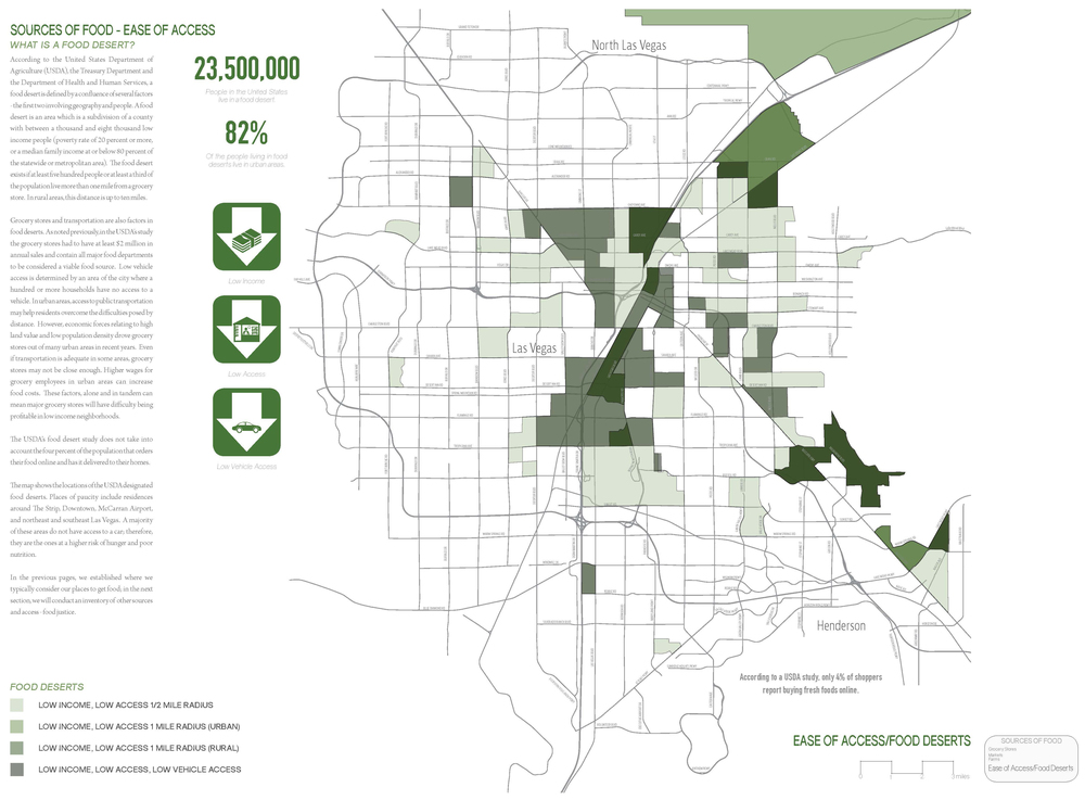 A map of food deserts in the Las Vegas Valley.  (click image for a larger view)