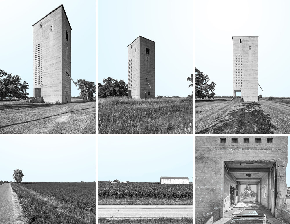 Photos of the existing silo and immediate landscape around it. (click on photos above for a larger view)