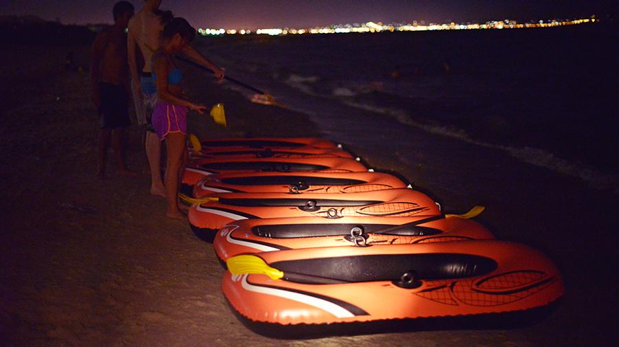 late night water rafting
