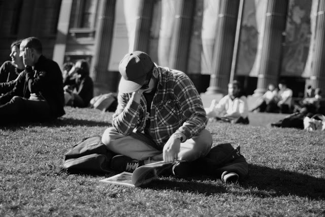 reading outside the library
