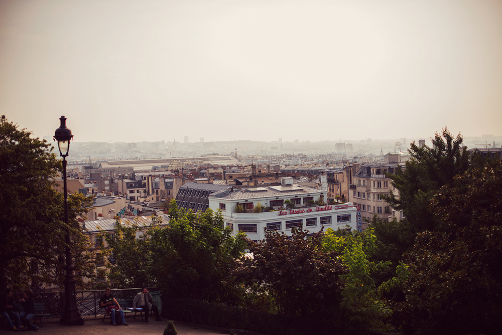 The view of Montmarte from Sacré Cœur Basilica