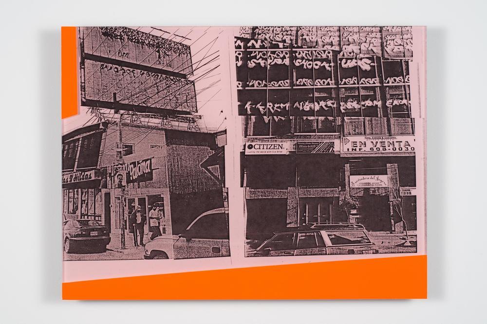 """""""Tijuana x 2""""   Dan Murphy   2014  Acrylic Face-Mounted Xerox  9"""" x 12"""""""