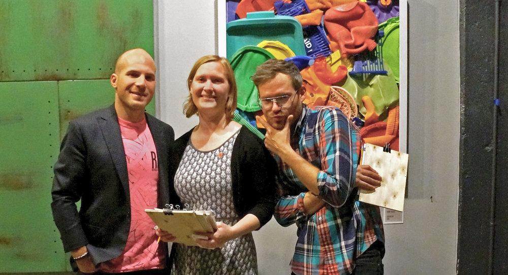 - Avi Golen, Fern Gookin and Billy Dufala at the first Trash Bash fundraiser in 2014.