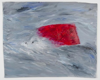 Sarah Gamble   Wind  2012 Acrylic on Paper  Courtesy of Fleisher/Ollman