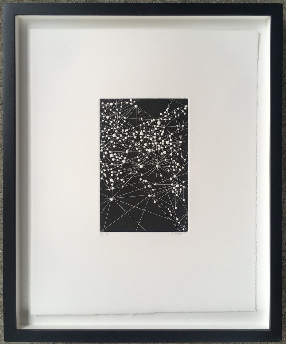 Victoria Burge   Night III  2014 relief print with embossment