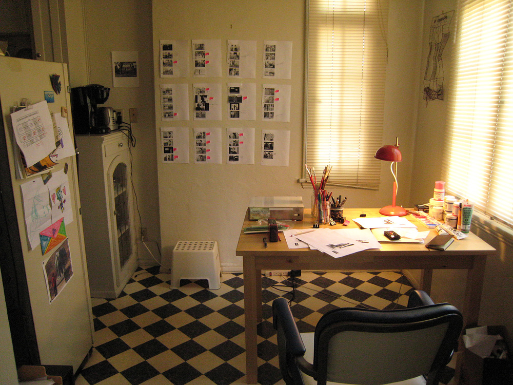 Our small dining room became the shot board wall which helped us track the progress of each shot.