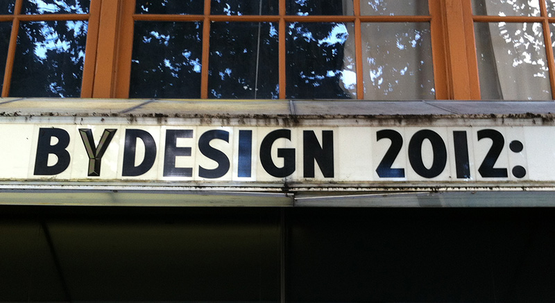 ByDesign 2012: Northwest Film Forum & AIGA Seattle invited us to speak about our work.