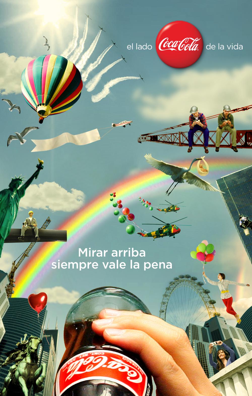 Looking up is always worth it.    The Coke side of life   Creative Team: Jorge Pomareda & Eduardo Tua