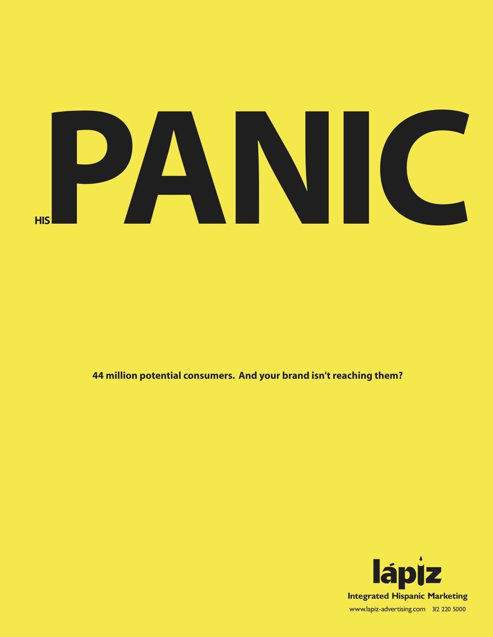 His Panic    Lapiz   Creative Team: Eduardo Tua