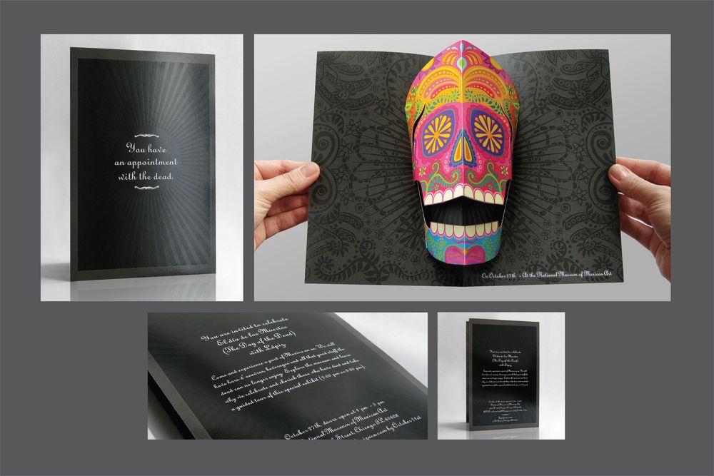 Day of the Dead 3D invitation    Silver Addy Winner   Creative Team: Jorge Pomareda & Eduardo Tua
