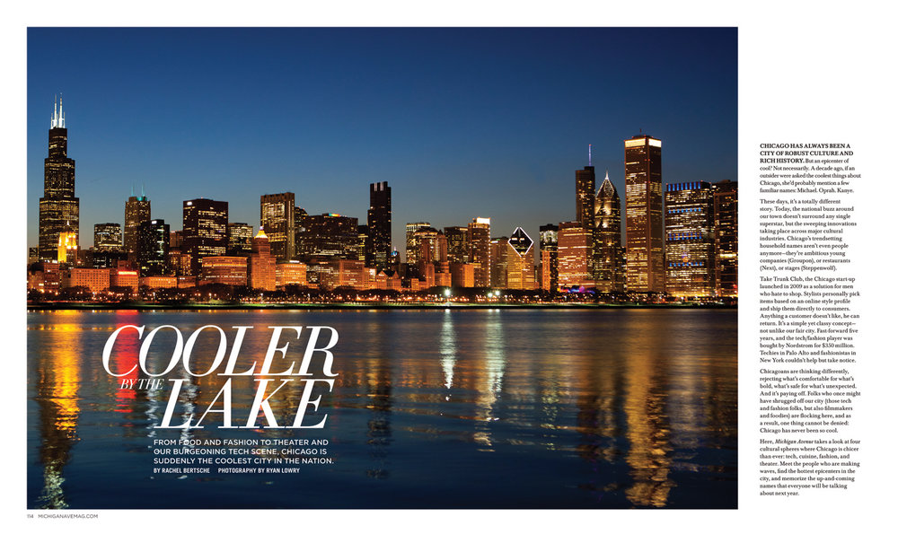 BEFORE IMAGE   Direction: We need to make the opening image to this feature story really pop. Use the provided photograph and alter the colors to make Chicago feel alive and hip.