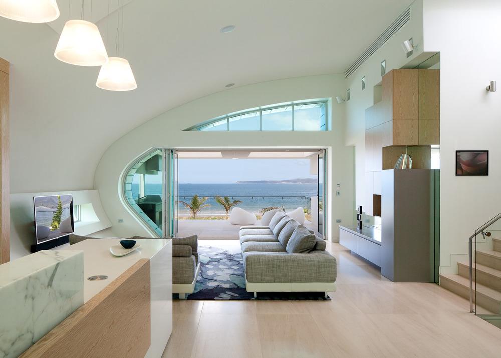 Long beach house douglas frost photography - Beach house modern interior design ...