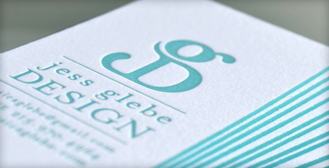 rise shine my letterpress business cards are here jess glebe design - Letterpress Business Cards