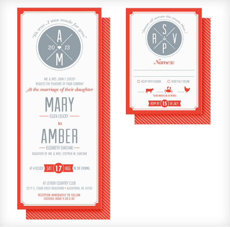 Letterpress Printed Invites & RSVPs