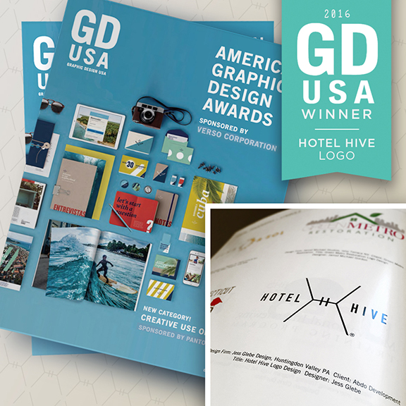 2016 GDUSA LOGO AWARD FOR HOTEL HIVE