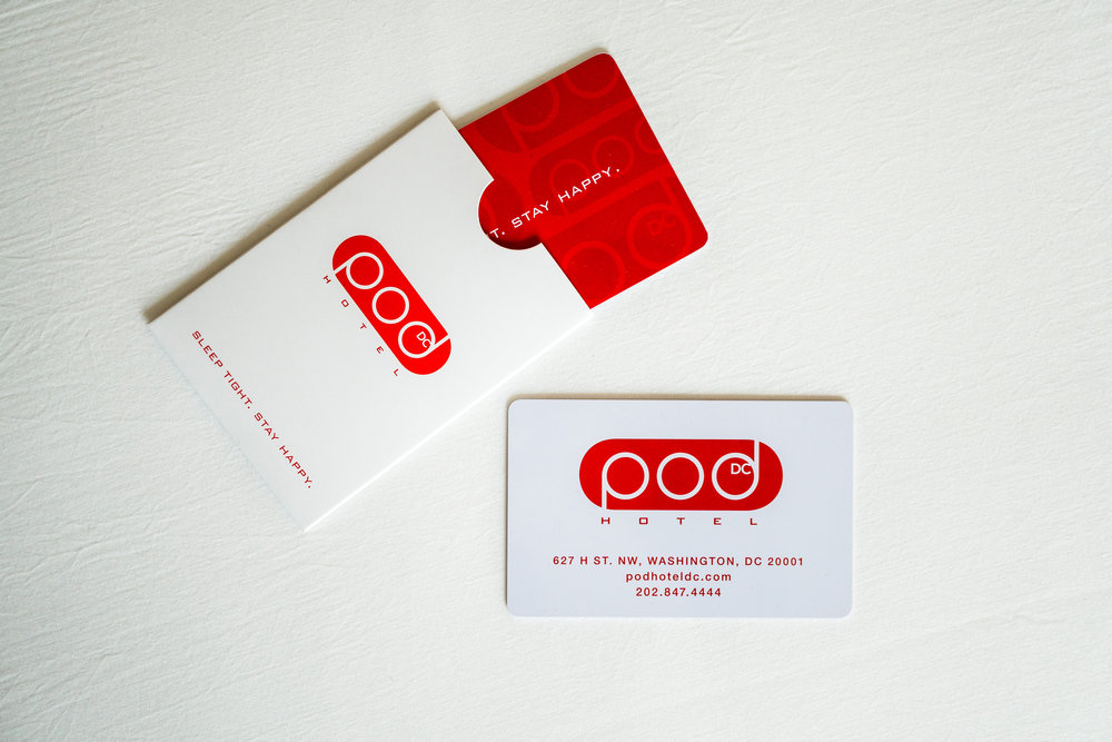 Pod DC Hotel Key Card. Photo @podhoteldc