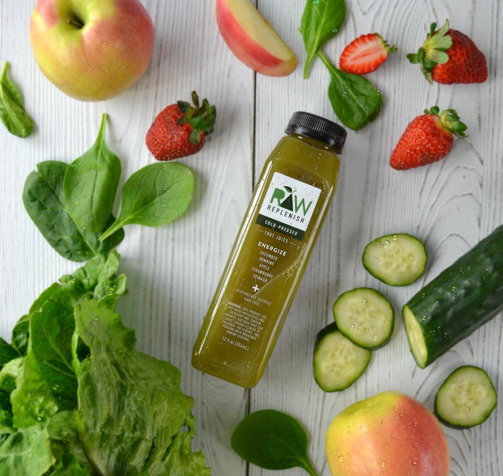 Raw Replenish, Energize Juice