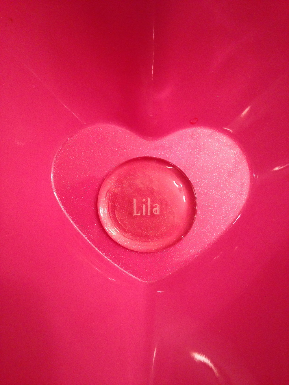 Lila's Stone in a Heart Bowl
