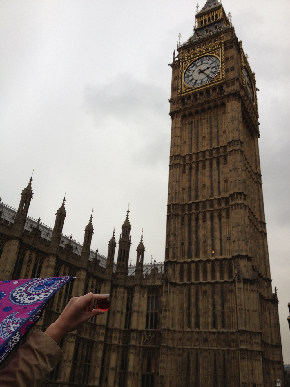 Lila with Big Ben