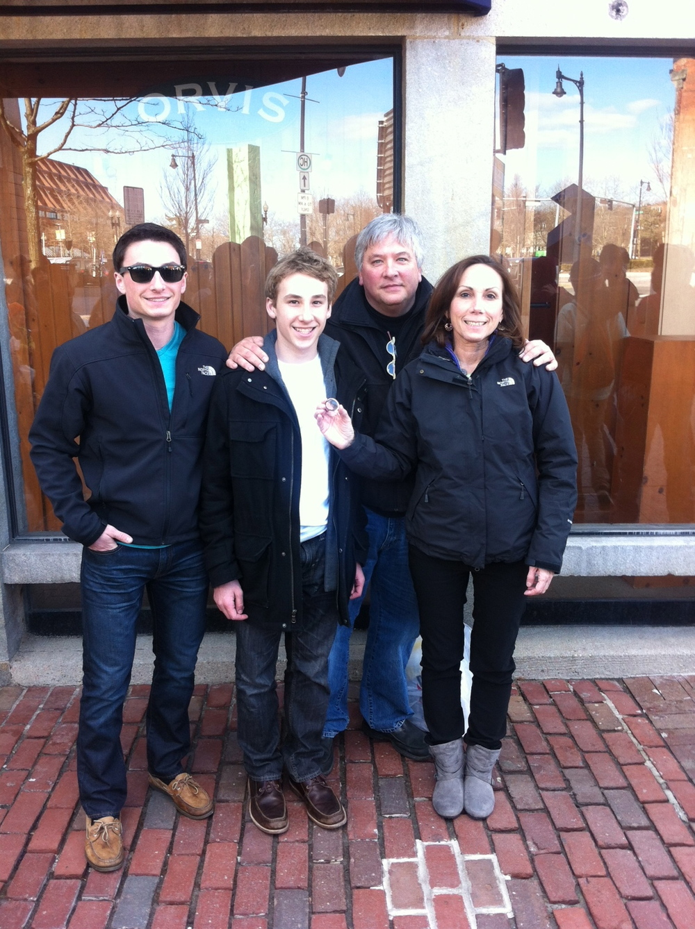 Lila at Quincy Market in Boston with the Kocan's