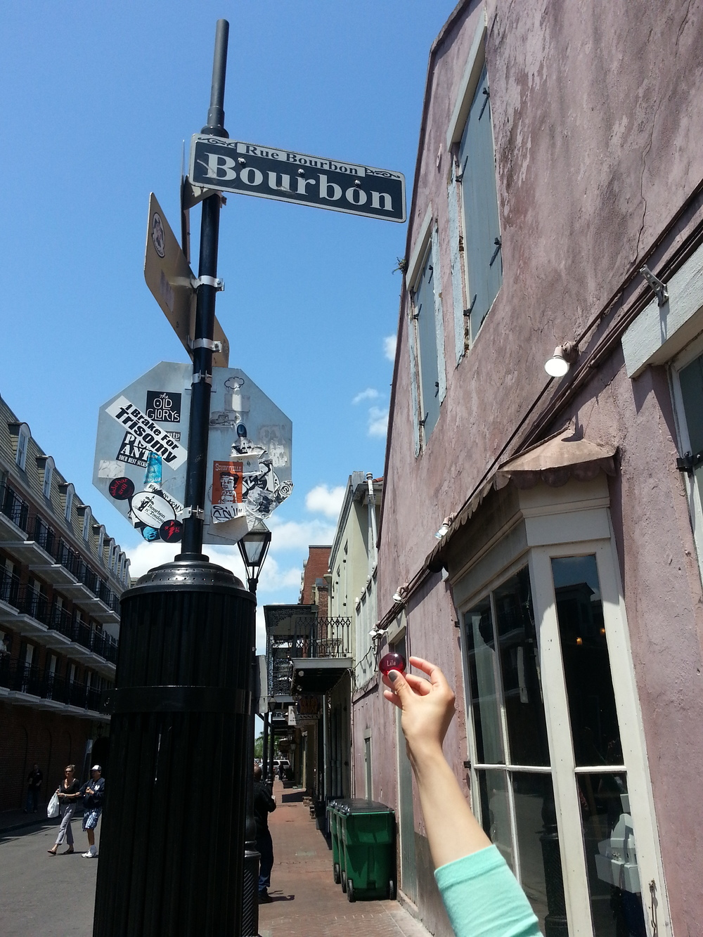 Lila made it to Bourbon Street
