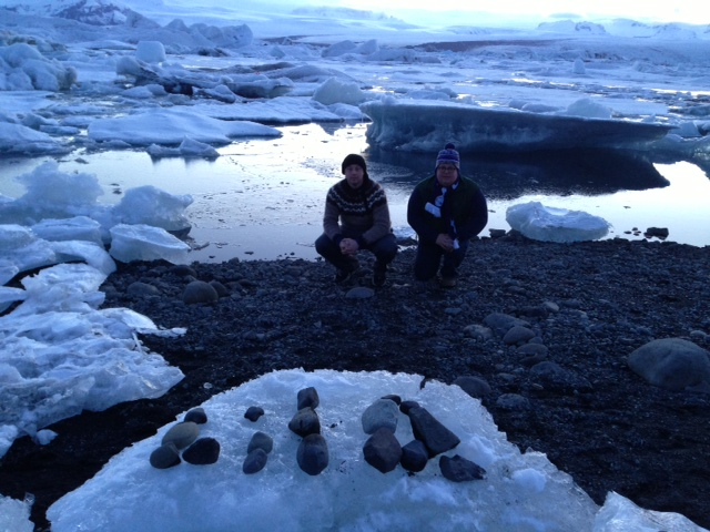 Lila with Jim and Justin in Iceland