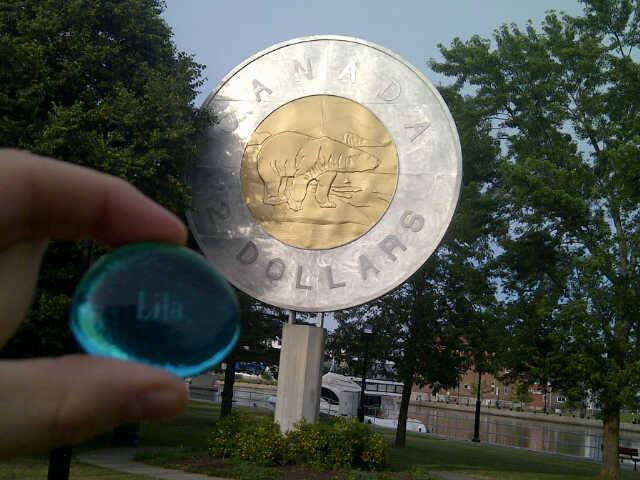 Lila with the Giant Toonie
