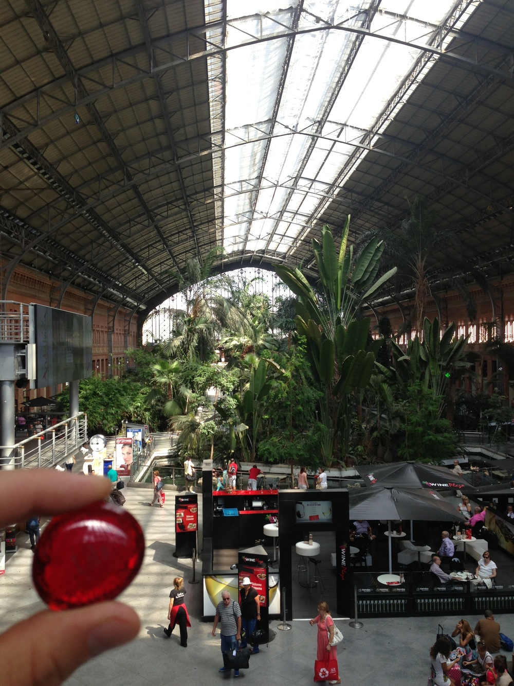 Lila at the Atocha Train Station