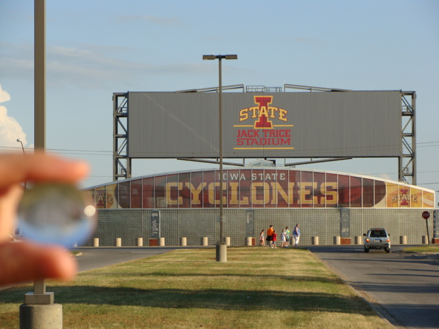 Lila at the Jack Trice Stadium